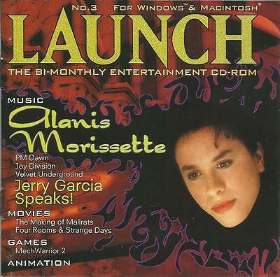 Launch, The Bi-Monthly Entertainment Cd-Rom #3 Alanis Morissette Jerry Garcia