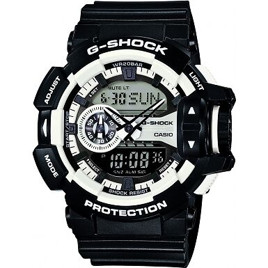 Casio GA-400-1AER Mens G-Shock White Black Chronograph Watch RRP £145
