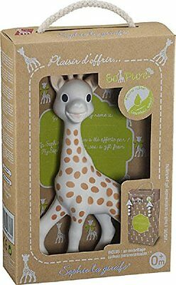 Vulli Sophie the Giraffe Baby Teether Natural Rubber Pacifier Squeaker Toy
