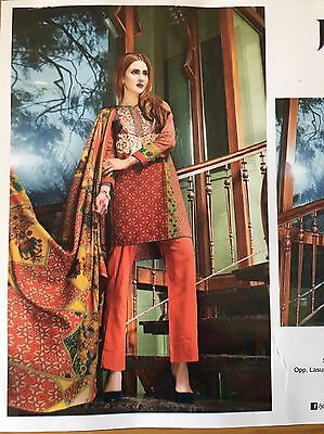 Designer Ladies Salwar Kameez Indian pakistani suit khaddar/Wool shawl 73A