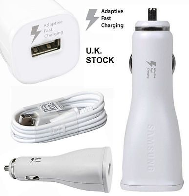 Genuine SAMSUNG 15W Fast Car Charger+Cable for Galaxy S7 S6 Edge NOTE 4 5