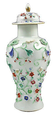 18th Century Chinese Export Porcelain Covered Urn w/ Animals & Flowers