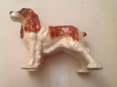 Vintage Coopercraft China Brown And White Spaniel Dog Figurine