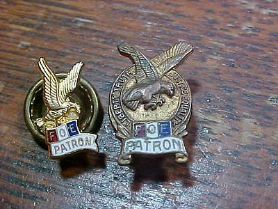 Fraternal Order of Eagle FOE Patron Screwback Pins Pin (13K1)