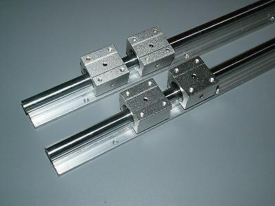SBR20-2500mm LINEAR SLIDE GUIDE SHAFT 2 RAIL+4SBR20UU BEARING BLOCK CNC M