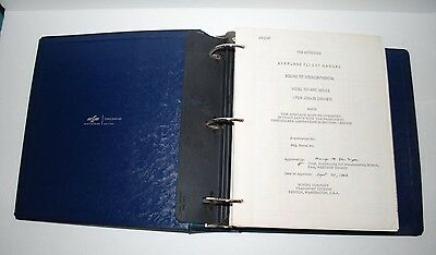 BOEING 707 INTERCONTINENTAL AIRPLANE FLIGHT MANUAL, FAA APPROVED, 300C, Stats