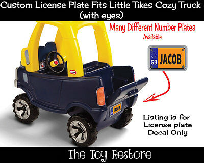Replacement Decal for Little Tikes Cozy Truck License Number Plate UK G.B boy
