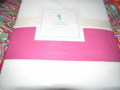 Pottery Barn Kids Classic Duvet Cover Twin  Bright Pink New
