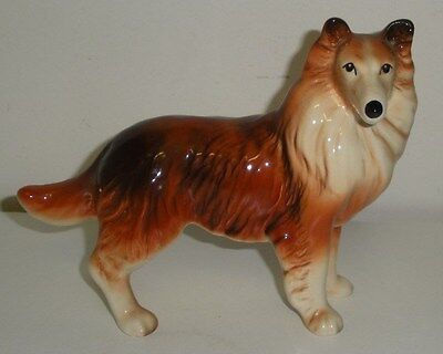 Beautiful Ceramic Collie Dog (5 Inches Tall,6-1/2 Inches Long)