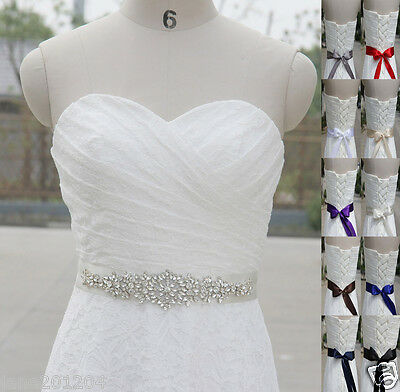 Ivory Belt Czech diamond Crystal Belt with Beaded Rhinestones Bridal sash WH30