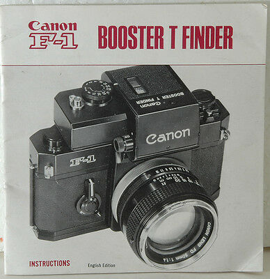 original instructions for the Canon F-1 Booster T Finder