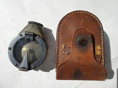 antique WWI era U.S.E.D MARCHING COMPASS w/LEATHER CASE sperry gyro co. MARK VII