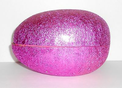 Vintage Paper Mache EASTER EGG PINK FOIL Candy Container Western West Germany