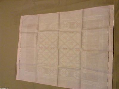 NWOT LOVELY Linen GUEST FINGER TIP HAND TOWEL Pinky/peach 27.5x20.5 in