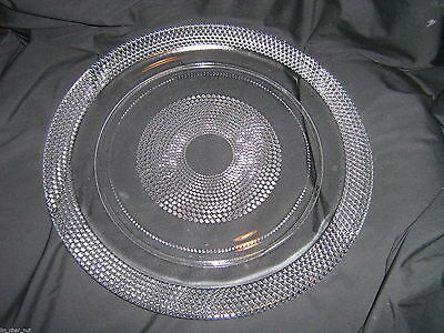 Lovely TEAR DROP ROUND PLATTER 12.5 inch No Cracks Chips or Fleabites!