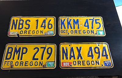 4 Oregon Car License Plates