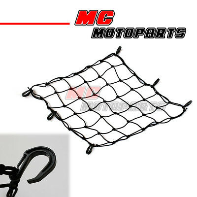 Mesh Cargo Net POM Hook Hold Helmet Luggage Rack For Motorcycle Vehicle 45x45mm