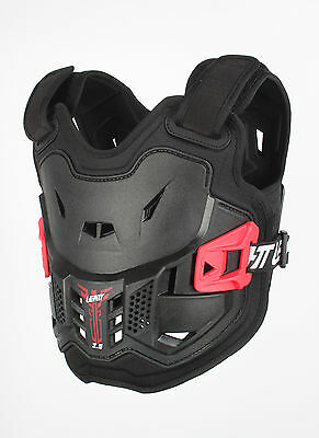 LEATT Chest Protector Kids 2.5 - Black/Red (4-7 years old) 5016100601