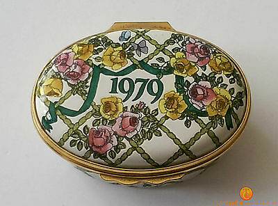 Halcyon Days Enamel Box 1979 A Year To Remember - Pill / Trinket Annual Edition