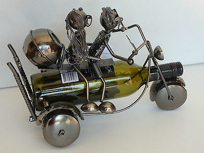novelty gift metal wine bottle holder trike couple man cave bar wine rack