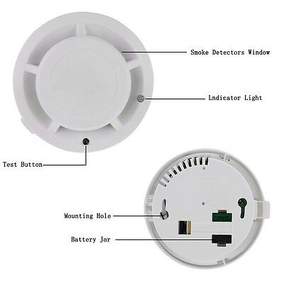 Battery Operate Combination Smoke Alarm Smoke Detector Home Security