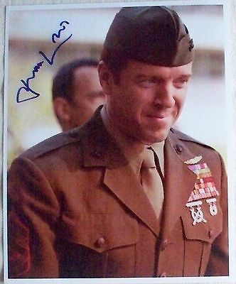 DAMIAN LEWIS: Genuine signed 8 x 10 photo as Brody from 'Homeland'.