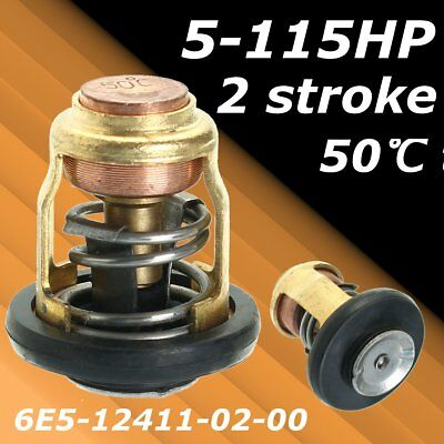 50 Degree Outboard Thermostat Replacement For Yamaha Honda 5-115HP 2 Strokes