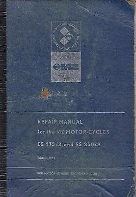 Mz Es 175/2 & Es 250/2 ( 1967 - 1969 ) Original Factory Workshop Manual