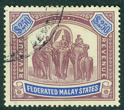 Malaysia Federated malay states revenues, 1904 $250 an exceptional used example