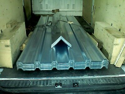 Roofing sheets, new box profile, galvanised, 15ft lengths