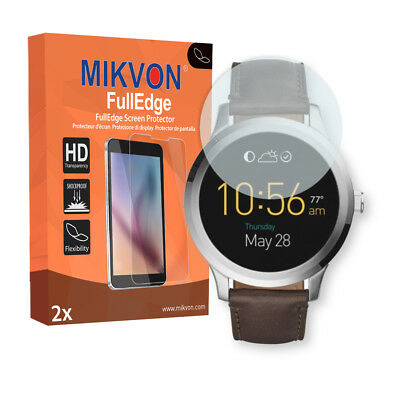2x Mikvon FullEdge protector display para Fossil Q Founder 2.0 lámina