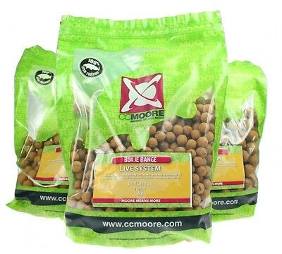 CC Moore NEW Carp Fishing Live System Shelf Life Boilies *1kg, 5kg or 10kg*