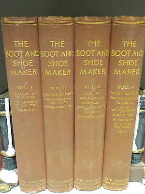 Ernest Bordoli - The Boot And Shoe Maker - 1935 Full Set Of 4 Volumes (ID:42070)