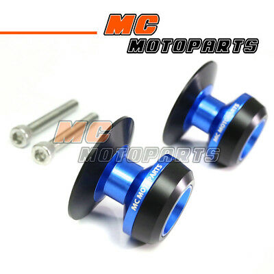 Blue Twall Racing M6 Swingarm Spools Sliders For Yamaha YZF R6 99-10 11 12 13