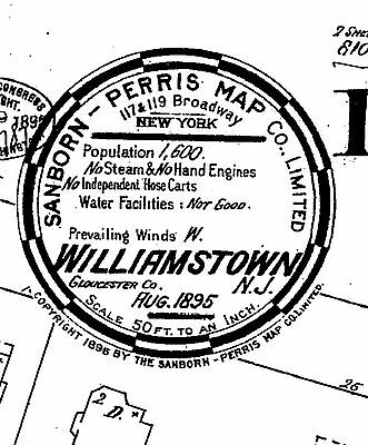 Williamstown, New Jersey~Sanborn Map©sheets~9 maps on CD
