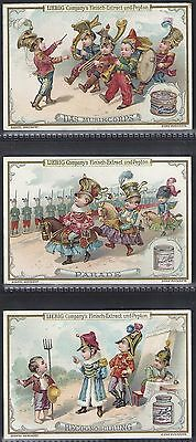 Liebig-*s0611*-Full Set Of 6 Cards- German - Children Playing At Soldiers