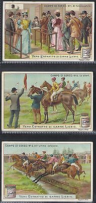 Liebig-*s0614*-Full Set Of 6 Cards- Italian - The Racecourse