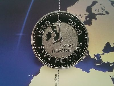 Royal Mint 1999 2000 Millennium £5 Five Pounds coin Uncirculated sealed in Pack