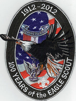 """100th Anniversary of Eagle Scout 4.25"""" x 6"""" Jacket Patch, """"BSA 2010"""" Back, Min!"""