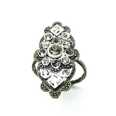 Real Silver Adjustable Ring Oxidized Antque Finish