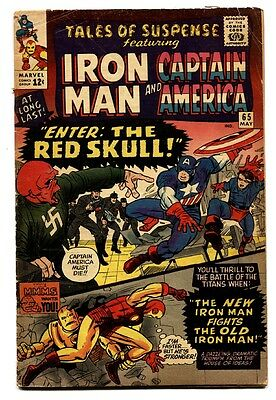 TALES OF SUSPENSE #66 1965 comic book-1ST S.A. RED SKULL-KEY ISSUE