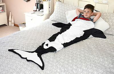 Kids Snug Rug Travel Blanket - Killer Whale or Rainbow Mermaid - Warm snuggle