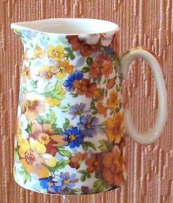 Heron Cross Pottery Abbeydale Collection Miniature Chintz Jug.