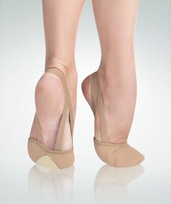 Body Wrappers Dance Twyla TotalSTRETCH Canvas Pleated Half Sole Slipper (620)