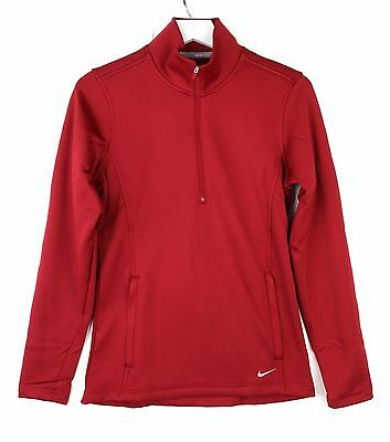 Nike Golf Womens Thermal Half Zip Long Sleeve Pullover 619967 Crimson Red Small