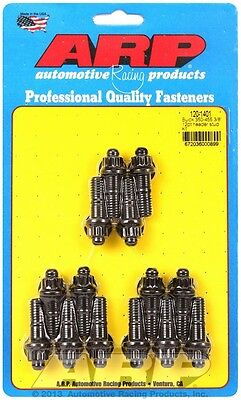 ARP Header Stud 1.670 in 12 Point Nuts Black Oxide Buick 14 pc P/N 120-1401