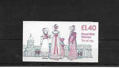 GB 1981 Costumes #1 Folded £1.40 Booklet - FM 3A