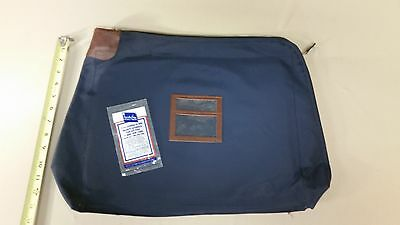 A Rifkin Document size Heavy Canvas Locking Bank Deposit Bag Deluxe Pop Up Lock
