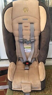Sunshine Kids Radian 65 Convertible 5 Point Harness Car Seat CLEAN Champagne