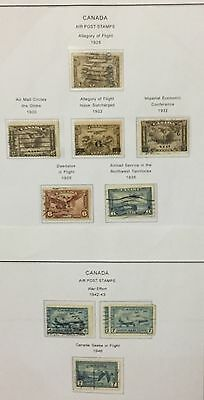 Canada 1928/46 Air Post Stamps 10  V. Used Rare Spl